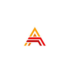 Triangle line initial a company logo vector