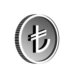 Turkish lira sign icon simple style vector image