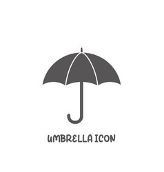 umbrella icon simple flat style vector image