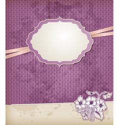 violet vintage background vector image