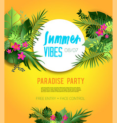 Yelloe party poster vector