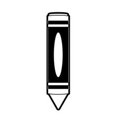 Yellow crayon drawing icon image vector