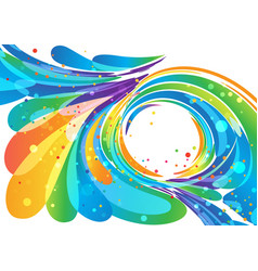 abstract bright circle frame background vector image vector image