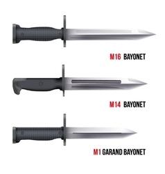 Bayonet Knives for rifles vector image vector image