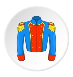 Military jacket of guards icon cartoon style vector image