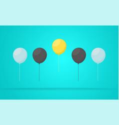 outstanding unique yellow balloon vector image