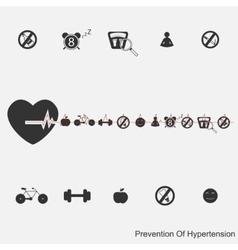 prevention of hypertension vector image