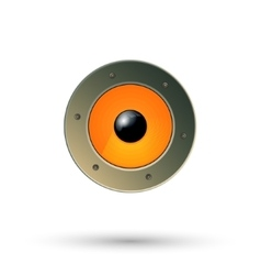 Speaker icon isolated vector image vector image