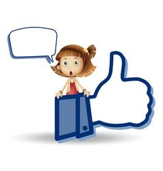 Cartoon girls Like Thumb vector image
