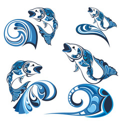 collection of fishs vector image vector image