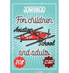 Color vintage Aviation poster vector image vector image