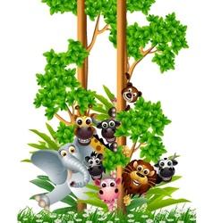 funny animal cartoon collection vector image vector image