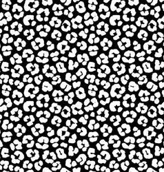 Leopard print seamless background pattern Black vector image vector image