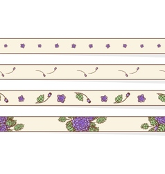 Set of borders with abstract roses vector image
