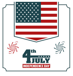 4th july independence day usa flag hanging poster vector image vector image