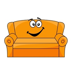 Cartoon upholstered couch vector image