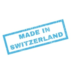 Made in switzerland rubber stamp vector