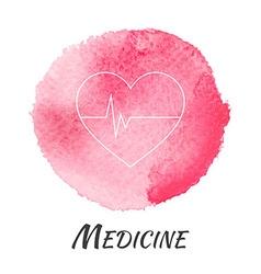 Medicine Heart Pulse Watercolor Concept vector image