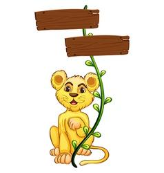 Yellow Tiger Signboard vector image