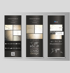 roll up banner stands geometric design templates vector image