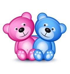 teddy bear couple vector image vector image