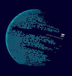 Abstract technology big data map world vector