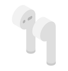 Airpods icon isometric style vector