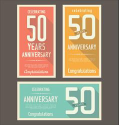Anniversasry background 50 years vector