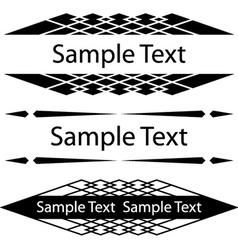 Black ornate frames for text vector