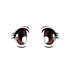 bright eyes with pupil in shape of heart vector image