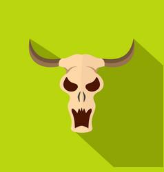 buffalo skull icon flat style vector image