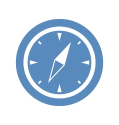 Compass icon in blue circle vector image