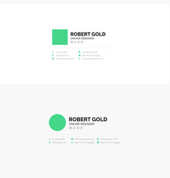 Corporate email signature design vector