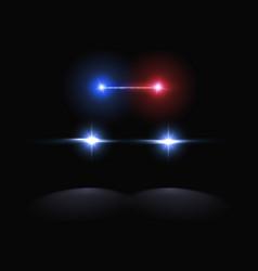 Creative of police car vector