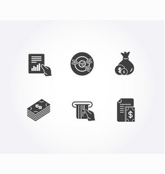 Credit card cash and dollar icons document vector
