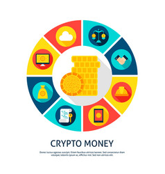 crypto money concept vector image