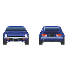Datsun 240z from 1972 front and back vector