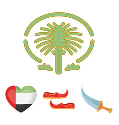 eastern shoes dagger the heart of the emirates vector image