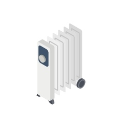 Electric oil heater icon isometric 3d style vector image