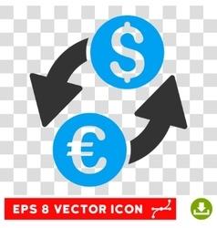 Euro Dollar Exchange Icon vector image