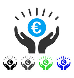 Euro prosperity flat icon vector