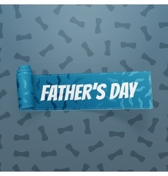 Fathers Day curved textile festive Ribbon vector image