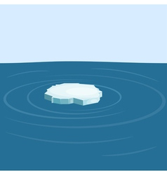 Floe in the sea yeps10 vector image