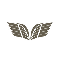 fly wings isolated emblem vector image