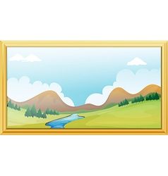 Frame of a Mountain View vector image