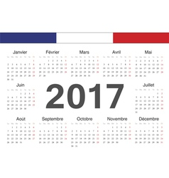 French circle calendar 2017 vector