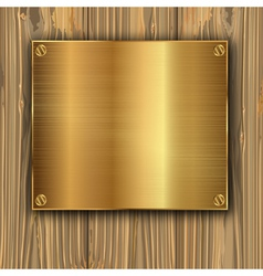 gold on a planks vector image vector image