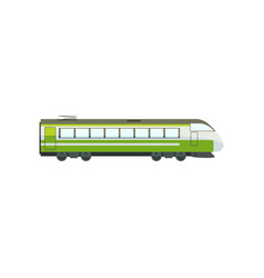 green modern passenger train locomotive subway vector image