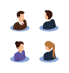 group of business people avatars characters vector image