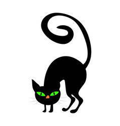 halloween creepy scary witches cat symbol icon vector image
